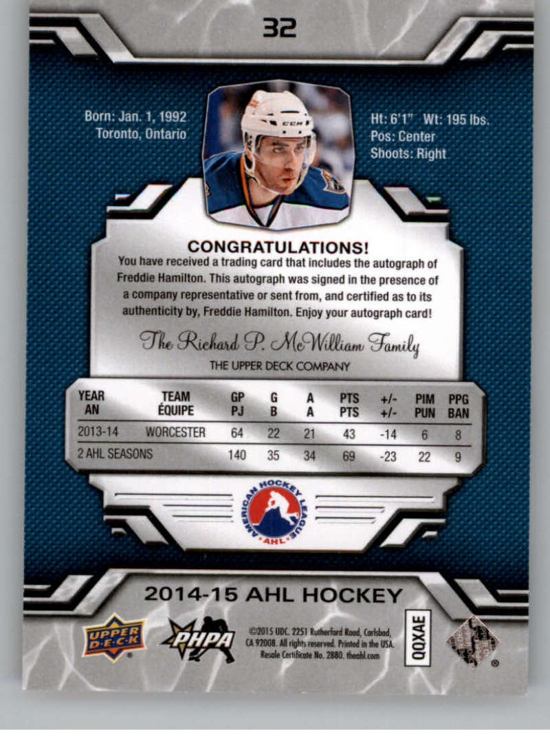 2014-15-Upper-Deck-AHL-Autographs-Stickers-Patch-Cards-Pick-From-List thumbnail 29