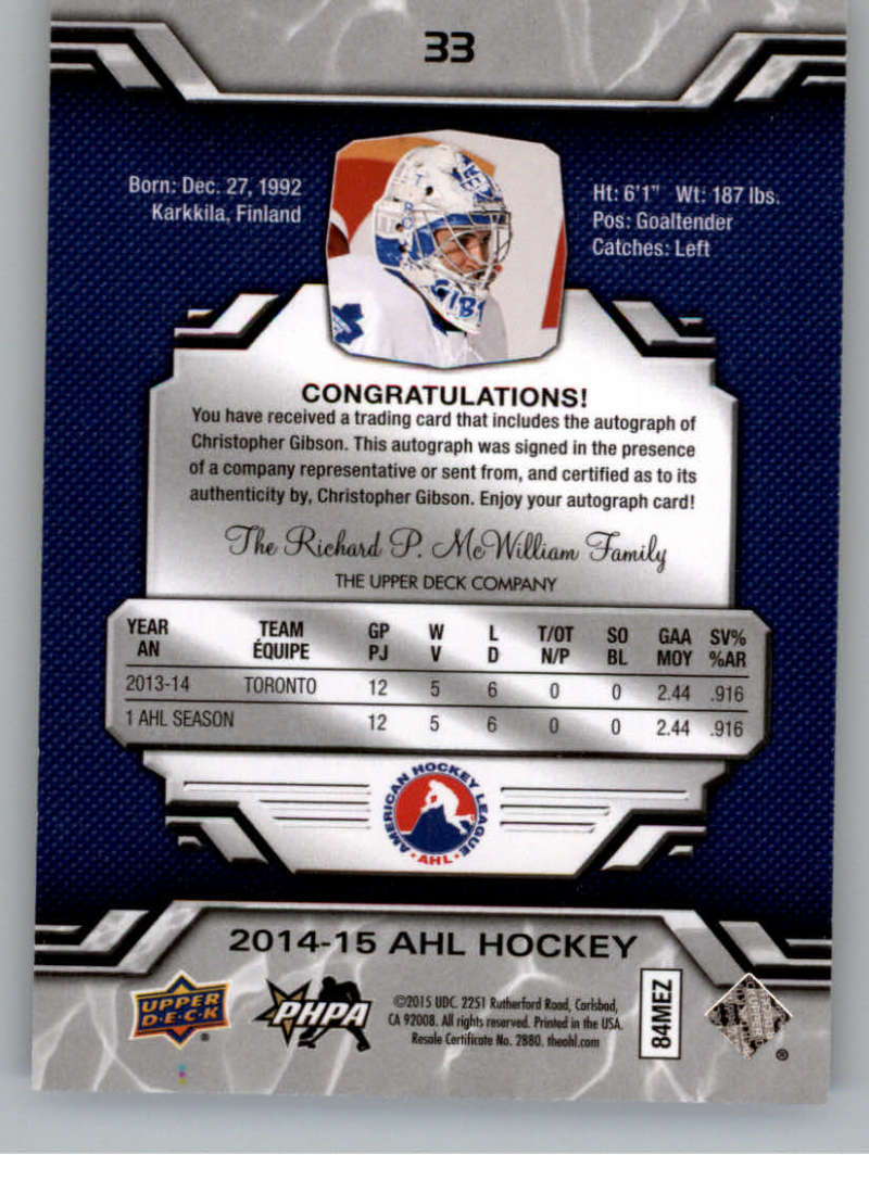 2014-15-Upper-Deck-AHL-Autographs-Stickers-Patch-Cards-Pick-From-List thumbnail 31