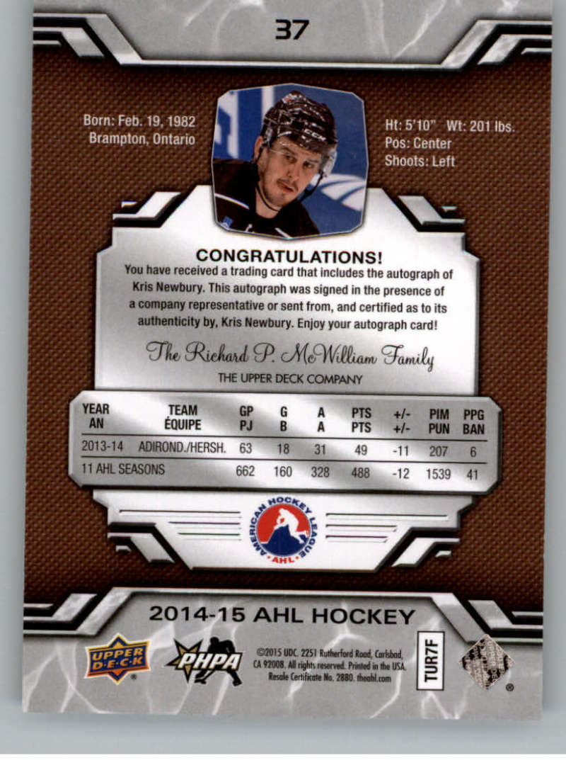 2014-15-Upper-Deck-AHL-Autographs-Stickers-Patch-Cards-Pick-From-List thumbnail 35