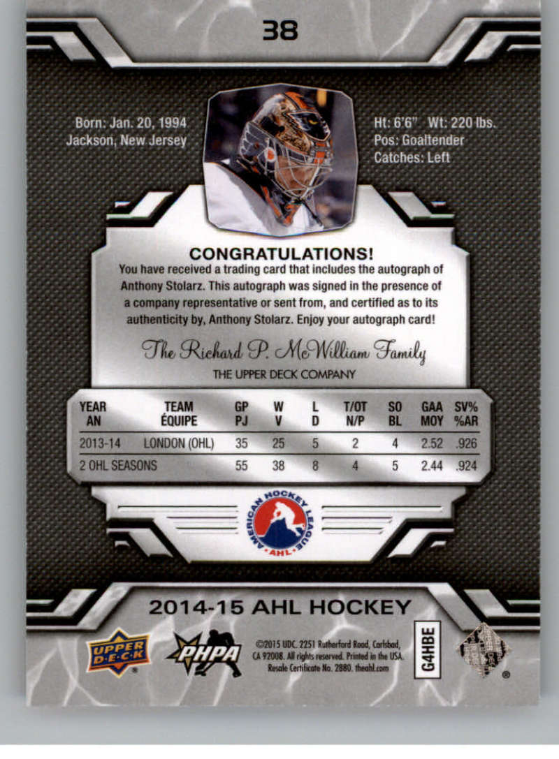 2014-15-Upper-Deck-AHL-Autographs-Stickers-Patch-Cards-Pick-From-List thumbnail 37
