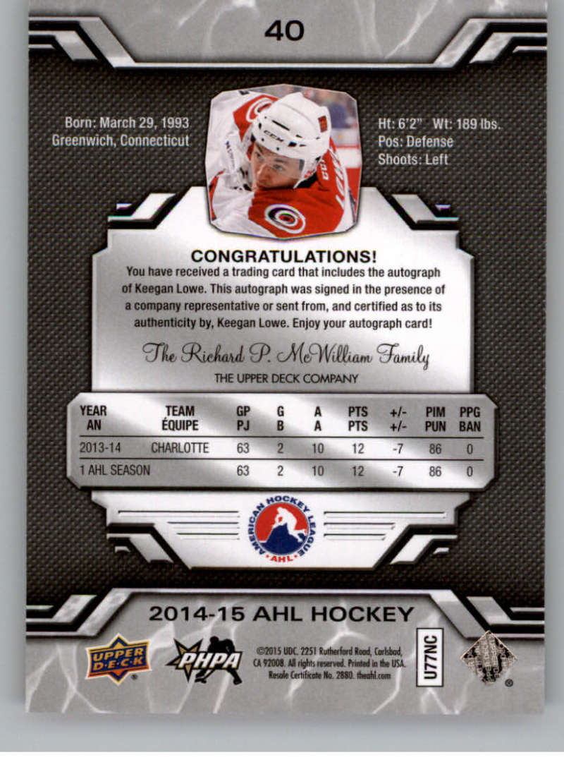 2014-15-Upper-Deck-AHL-Autographs-Stickers-Patch-Cards-Pick-From-List thumbnail 39