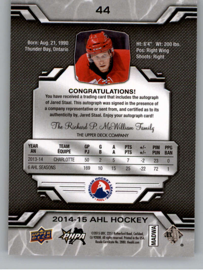 2014-15-Upper-Deck-AHL-Autographs-Stickers-Patch-Cards-Pick-From-List thumbnail 47