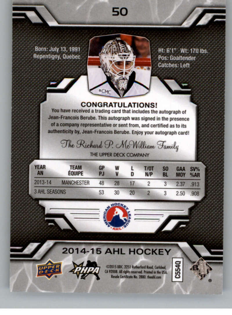 2014-15-Upper-Deck-AHL-Autographs-Stickers-Patch-Cards-Pick-From-List thumbnail 55