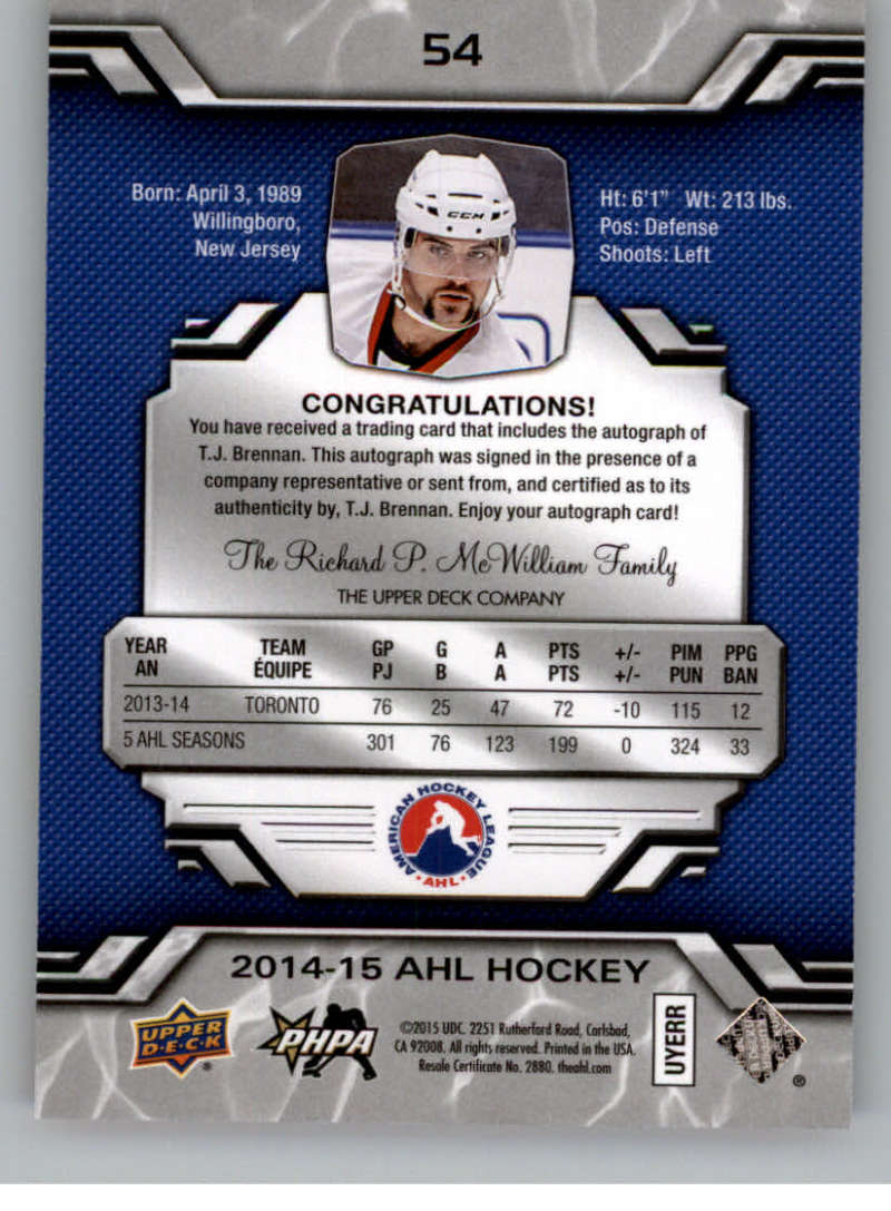 2014-15-Upper-Deck-AHL-Autographs-Stickers-Patch-Cards-Pick-From-List thumbnail 57