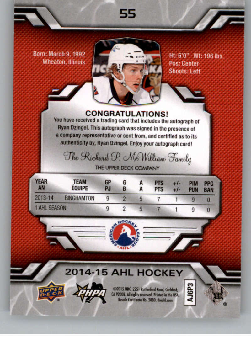 2014-15-Upper-Deck-AHL-Autographs-Stickers-Patch-Cards-Pick-From-List thumbnail 59