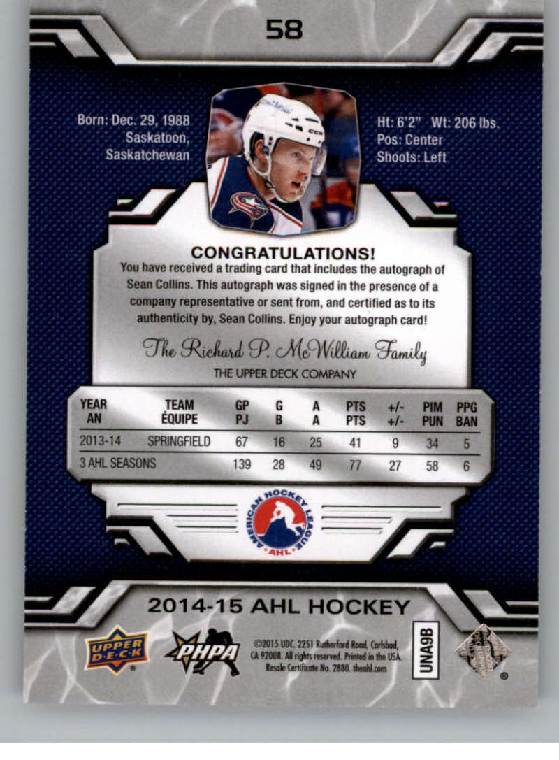 2014-15-Upper-Deck-AHL-Autographs-Stickers-Patch-Cards-Pick-From-List thumbnail 61