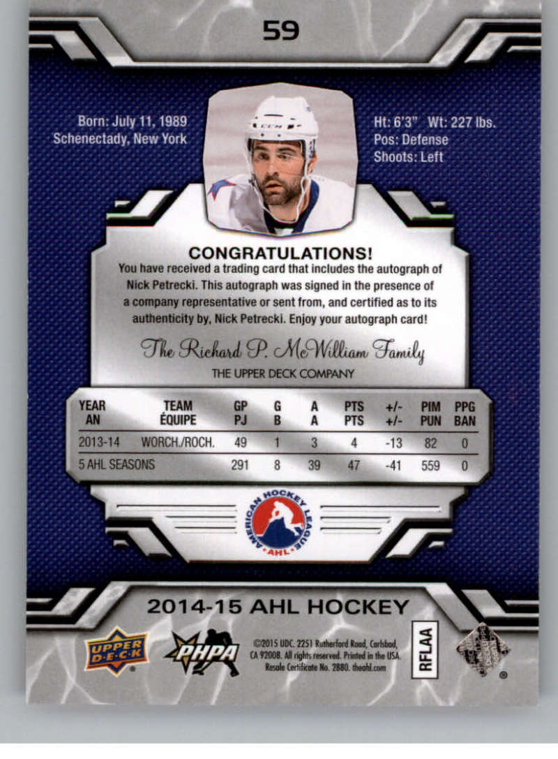 2014-15-Upper-Deck-AHL-Autographs-Stickers-Patch-Cards-Pick-From-List thumbnail 63