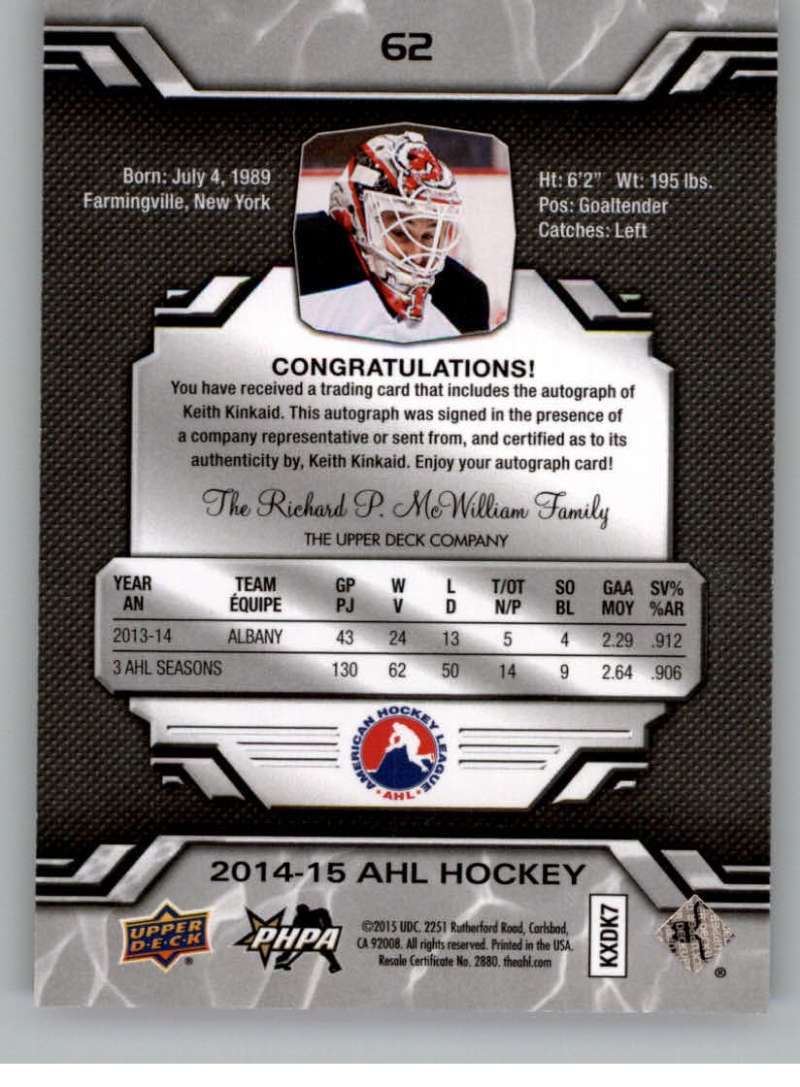 2014-15-Upper-Deck-AHL-Autographs-Stickers-Patch-Cards-Pick-From-List thumbnail 67