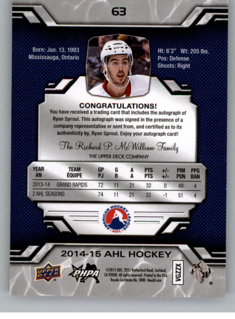 2014-15-Upper-Deck-AHL-Autographs-Stickers-Patch-Cards-Pick-From-List thumbnail 69