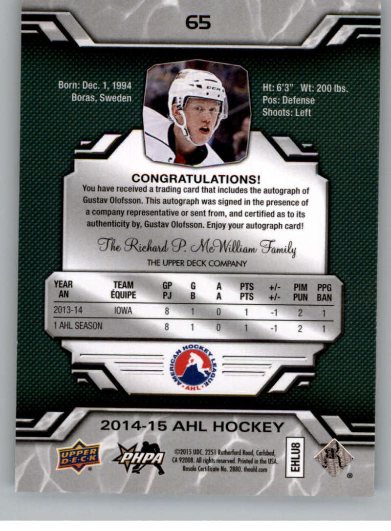 2014-15-Upper-Deck-AHL-Autographs-Stickers-Patch-Cards-Pick-From-List thumbnail 73