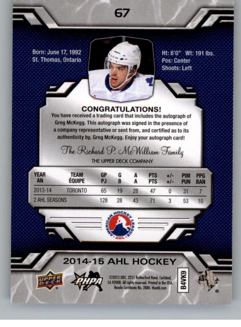 2014-15-Upper-Deck-AHL-Autographs-Stickers-Patch-Cards-Pick-From-List thumbnail 77