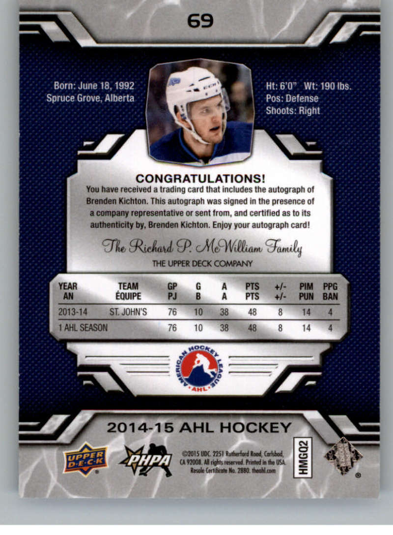 2014-15-Upper-Deck-AHL-Autographs-Stickers-Patch-Cards-Pick-From-List thumbnail 79