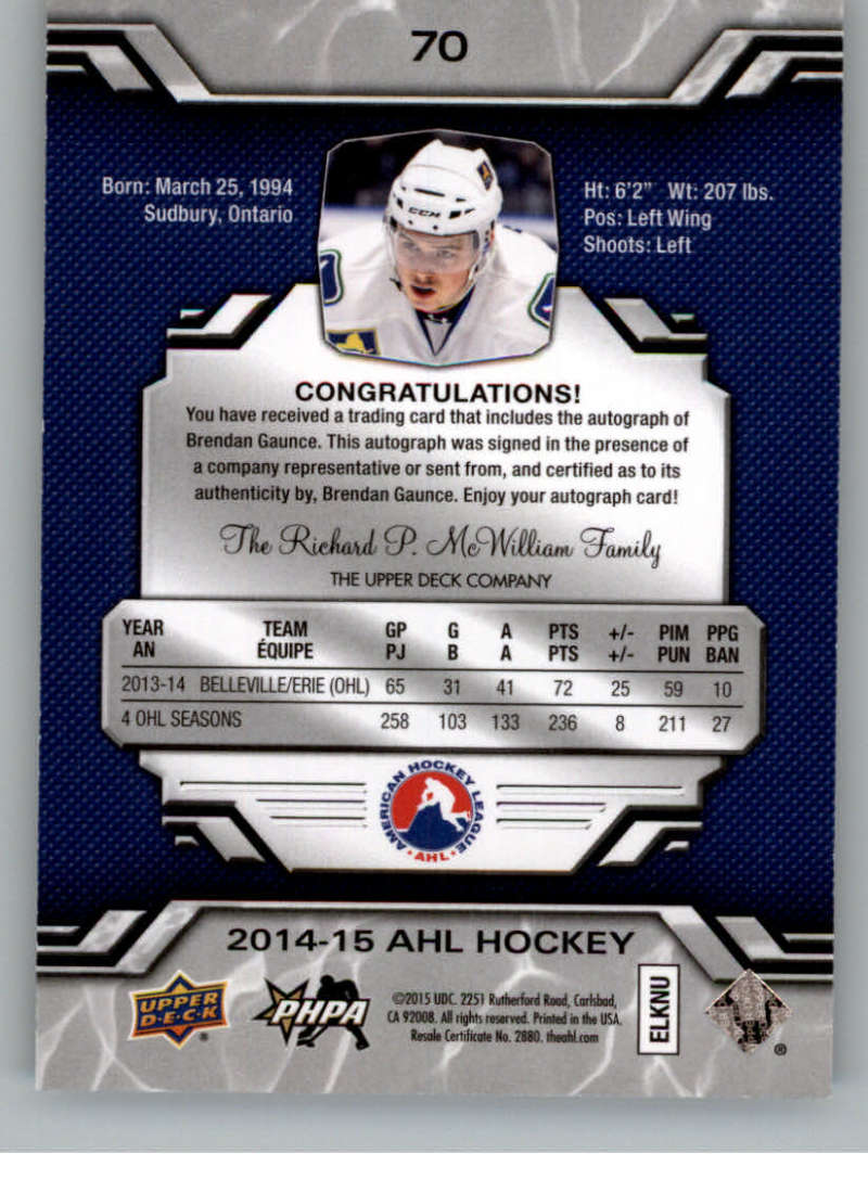 2014-15-Upper-Deck-AHL-Autographs-Stickers-Patch-Cards-Pick-From-List thumbnail 81