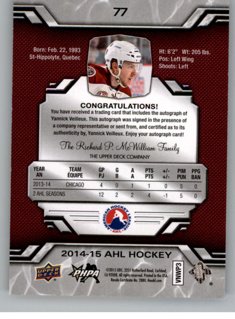 2014-15-Upper-Deck-AHL-Autographs-Stickers-Patch-Cards-Pick-From-List thumbnail 91