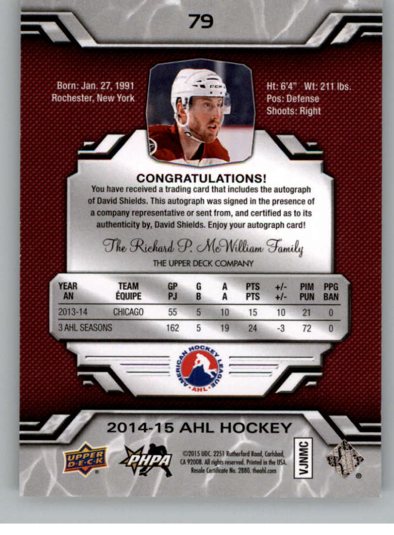 2014-15-Upper-Deck-AHL-Autographs-Stickers-Patch-Cards-Pick-From-List thumbnail 93