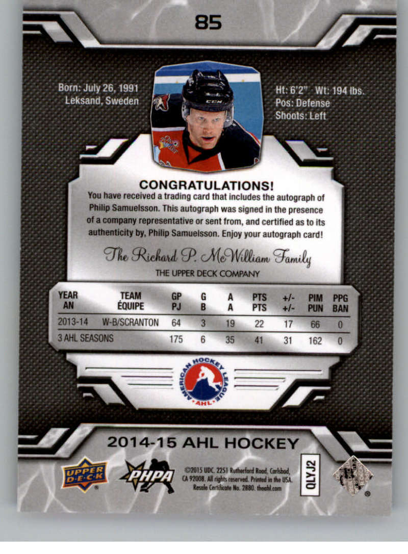 2014-15-Upper-Deck-AHL-Autographs-Stickers-Patch-Cards-Pick-From-List thumbnail 97