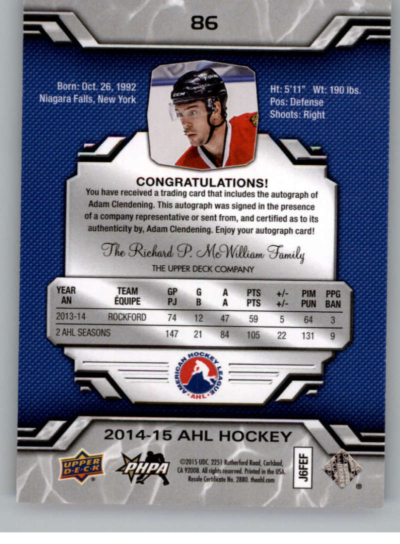 2014-15-Upper-Deck-AHL-Autographs-Stickers-Patch-Cards-Pick-From-List thumbnail 99