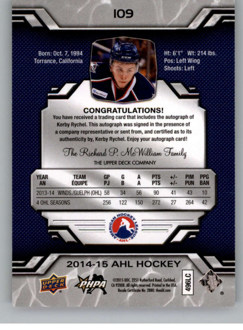 2014-15-Upper-Deck-AHL-Autographs-Stickers-Patch-Cards-Pick-From-List thumbnail 115