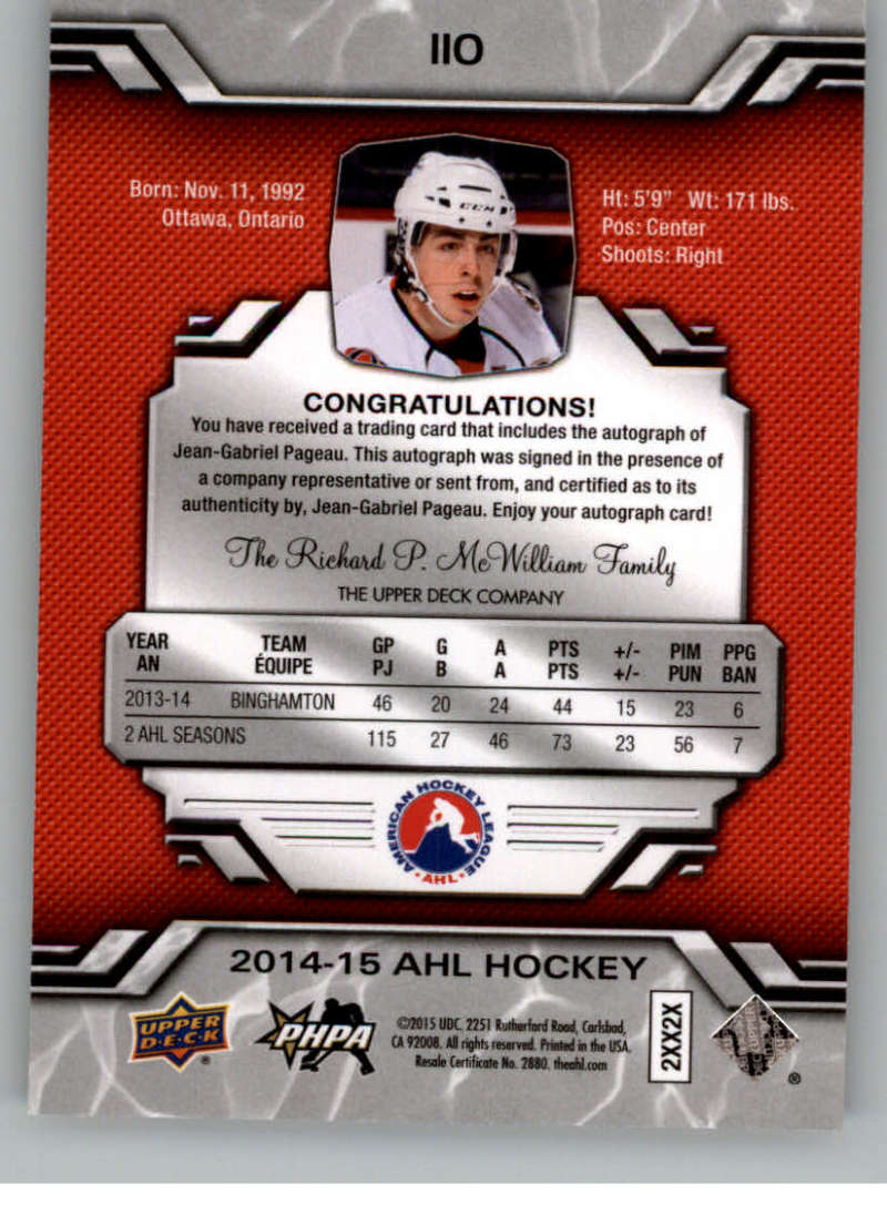 2014-15-Upper-Deck-AHL-Autographs-Stickers-Patch-Cards-Pick-From-List thumbnail 117