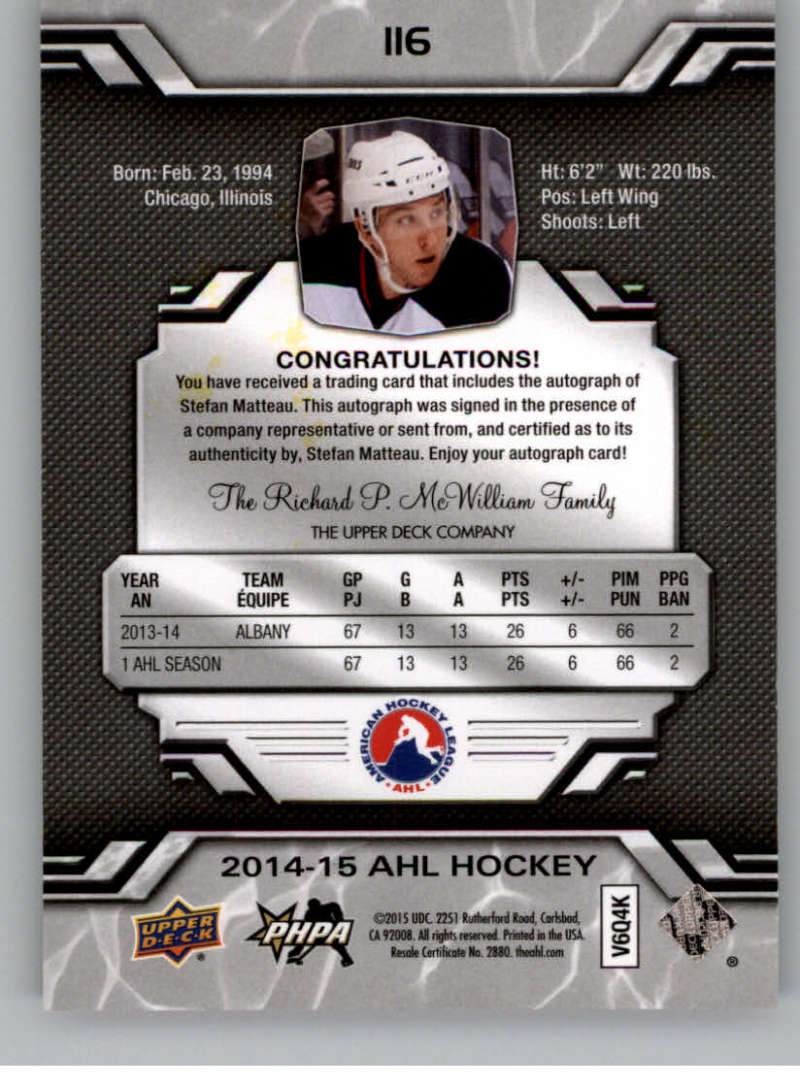 2014-15-Upper-Deck-AHL-Autographs-Stickers-Patch-Cards-Pick-From-List thumbnail 125
