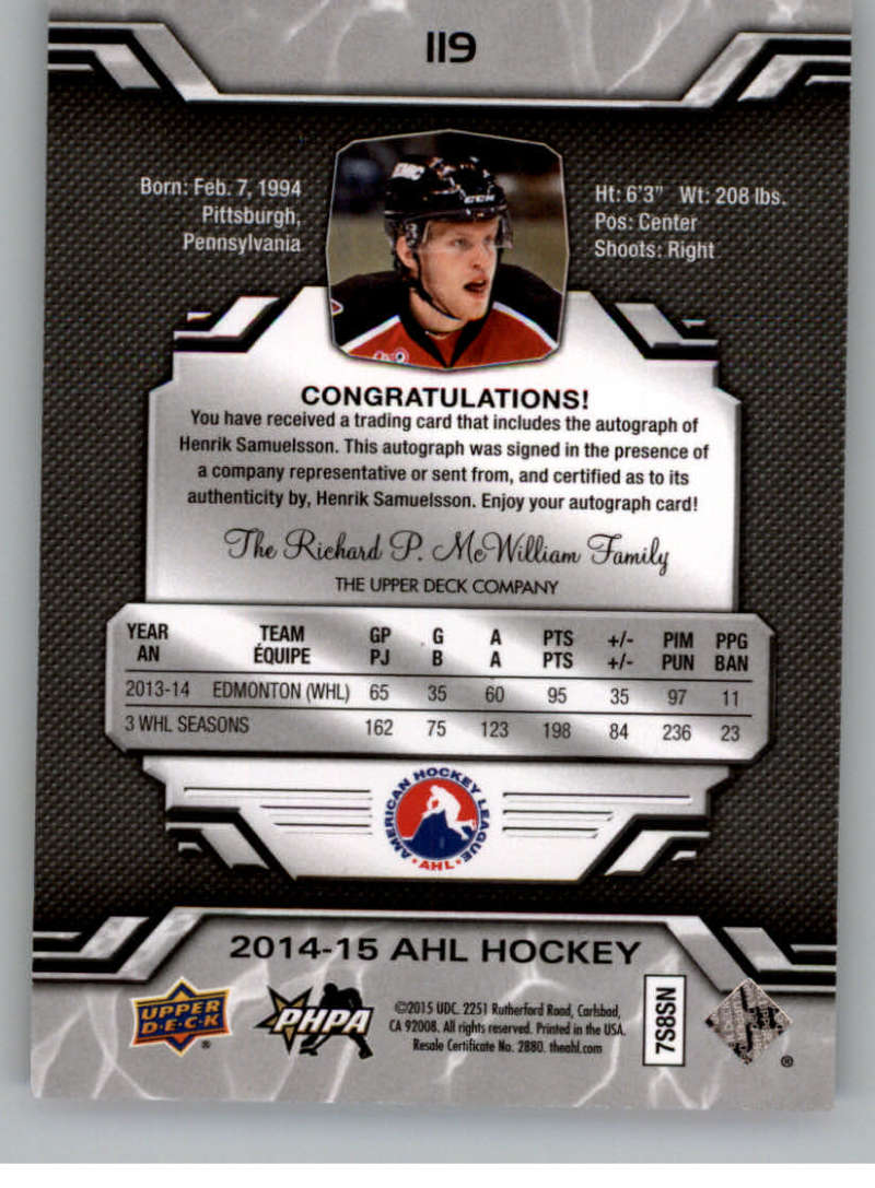 2014-15-Upper-Deck-AHL-Autographs-Stickers-Patch-Cards-Pick-From-List thumbnail 131