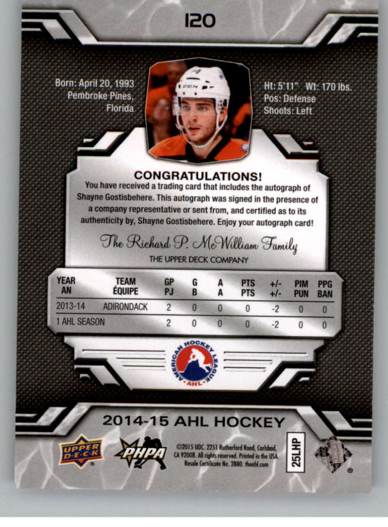 2014-15-Upper-Deck-AHL-Autographs-Stickers-Patch-Cards-Pick-From-List thumbnail 133