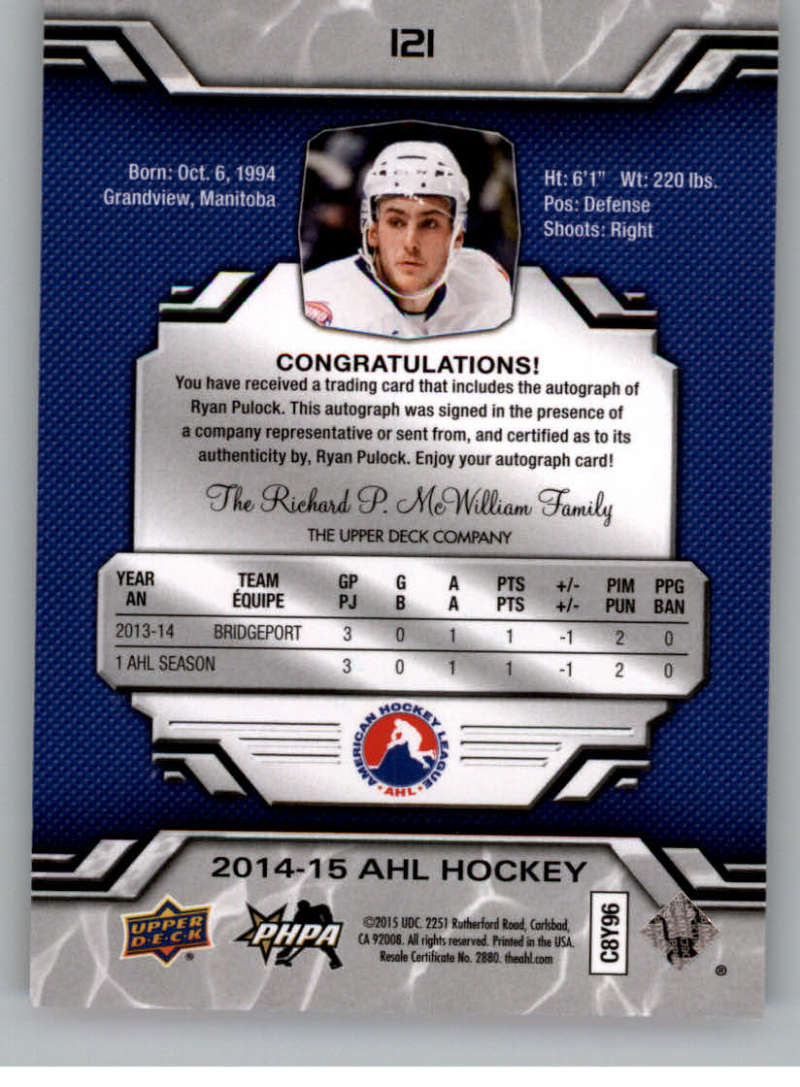 2014-15-Upper-Deck-AHL-Autographs-Stickers-Patch-Cards-Pick-From-List thumbnail 135