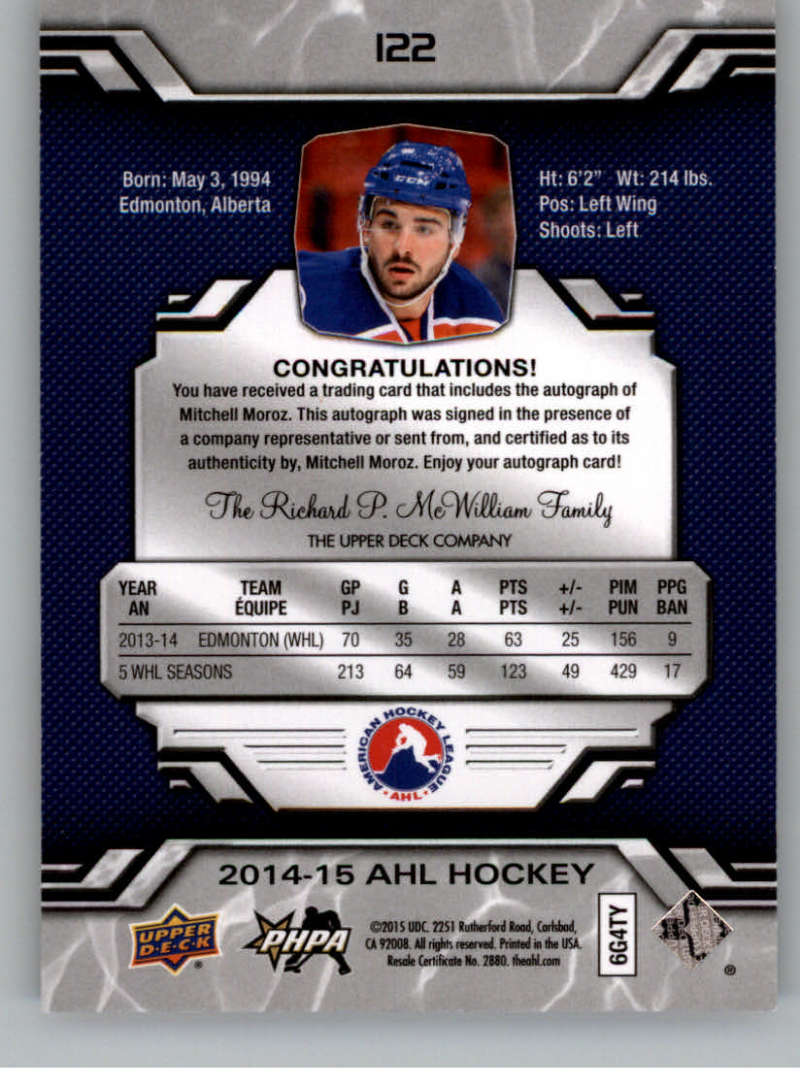 2014-15-Upper-Deck-AHL-Autographs-Stickers-Patch-Cards-Pick-From-List thumbnail 137
