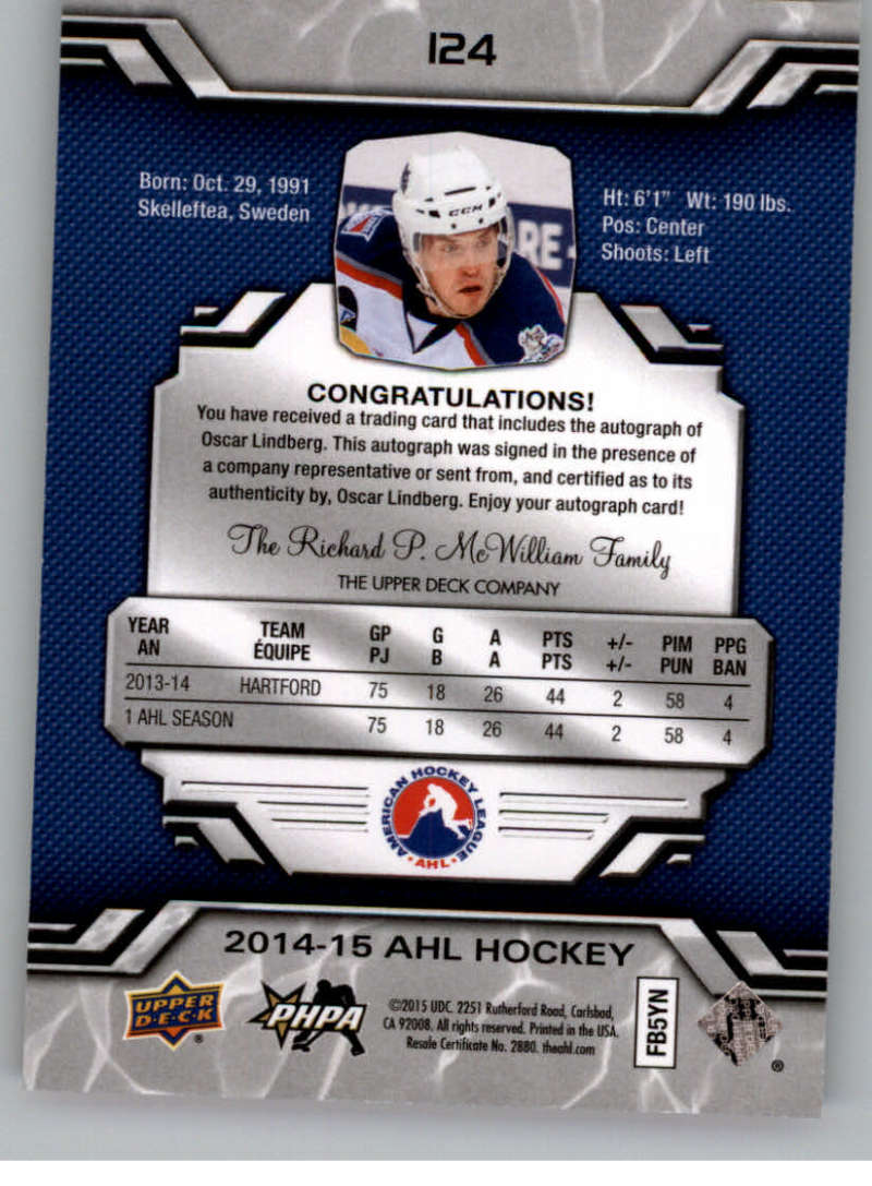 2014-15-Upper-Deck-AHL-Autographs-Stickers-Patch-Cards-Pick-From-List thumbnail 141