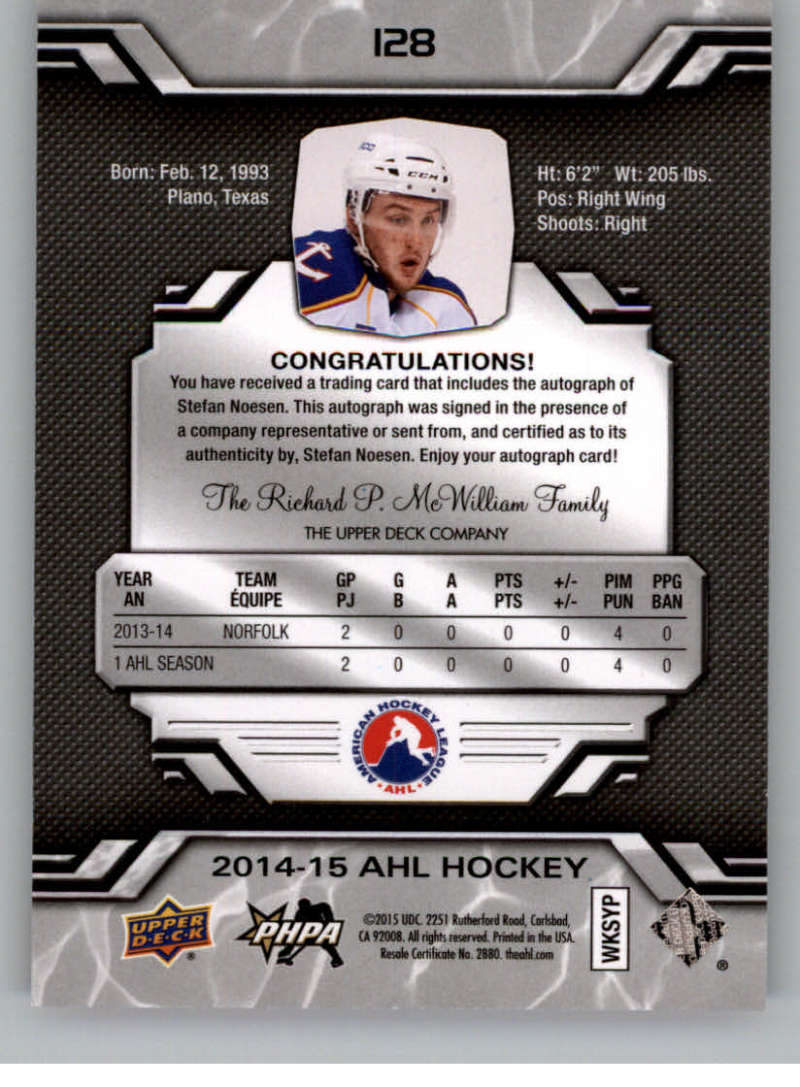 2014-15-Upper-Deck-AHL-Autographs-Stickers-Patch-Cards-Pick-From-List thumbnail 145