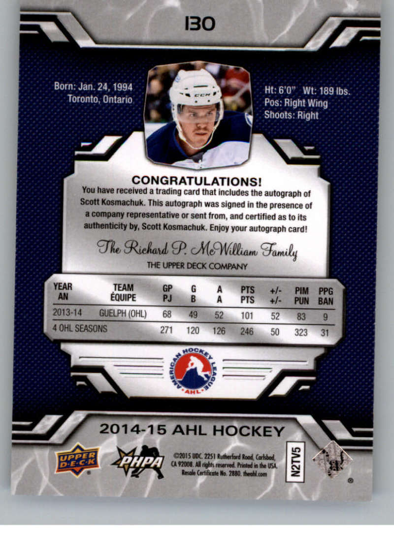 2014-15-Upper-Deck-AHL-Autographs-Stickers-Patch-Cards-Pick-From-List thumbnail 147