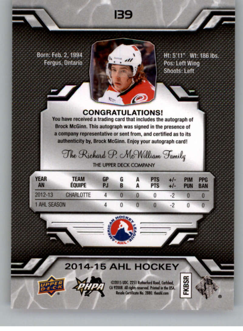 2014-15-Upper-Deck-AHL-Autographs-Stickers-Patch-Cards-Pick-From-List thumbnail 155