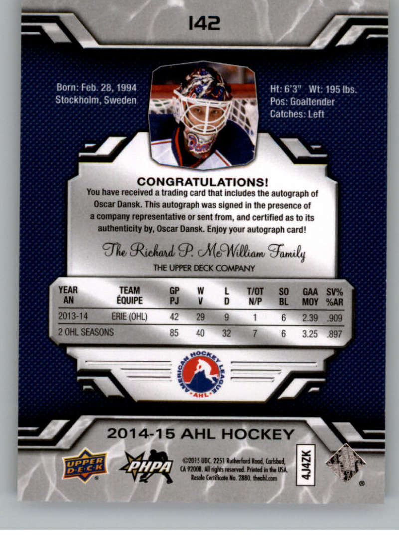 2014-15-Upper-Deck-AHL-Autographs-Stickers-Patch-Cards-Pick-From-List thumbnail 159