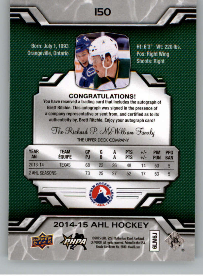 2014-15-Upper-Deck-AHL-Autographs-Stickers-Patch-Cards-Pick-From-List thumbnail 163