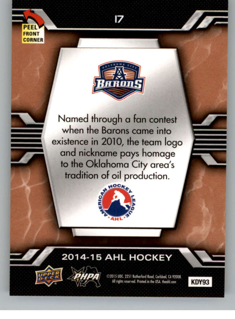 2014-15-Upper-Deck-AHL-Autographs-Stickers-Patch-Cards-Pick-From-List thumbnail 189