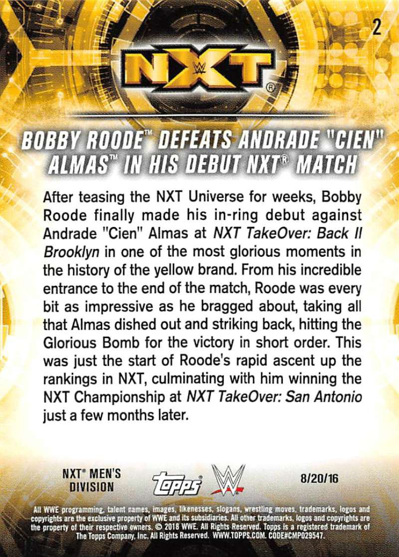 2018-Topps-WWE-NXT-Base-or-Matches-and-Moments-Cards-Pick-From-List thumbnail 49