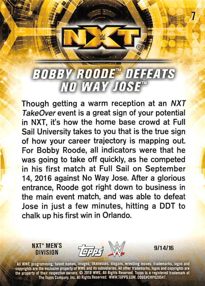 2018-Topps-WWE-NXT-Base-or-Matches-and-Moments-Cards-Pick-From-List thumbnail 57