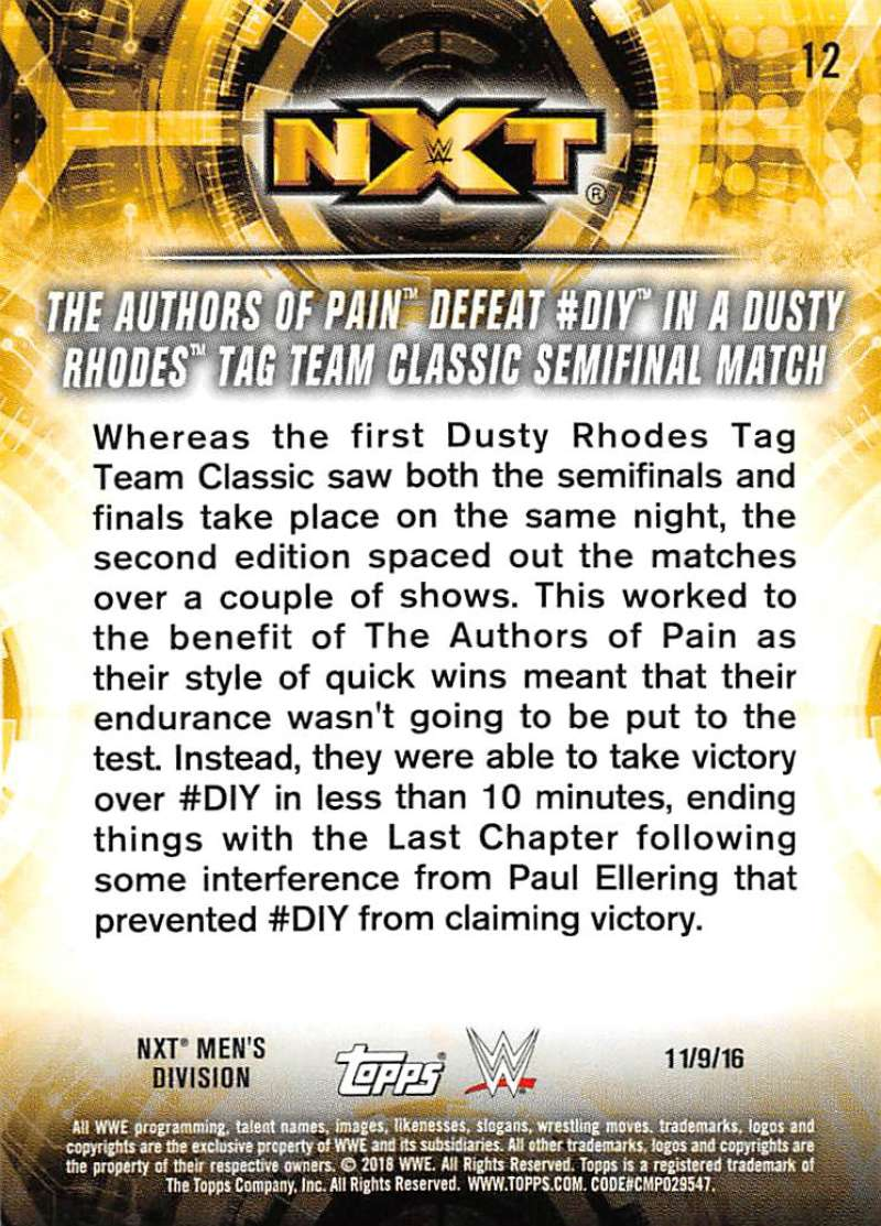 2018-Topps-WWE-NXT-Base-or-Matches-and-Moments-Cards-Pick-From-List thumbnail 59