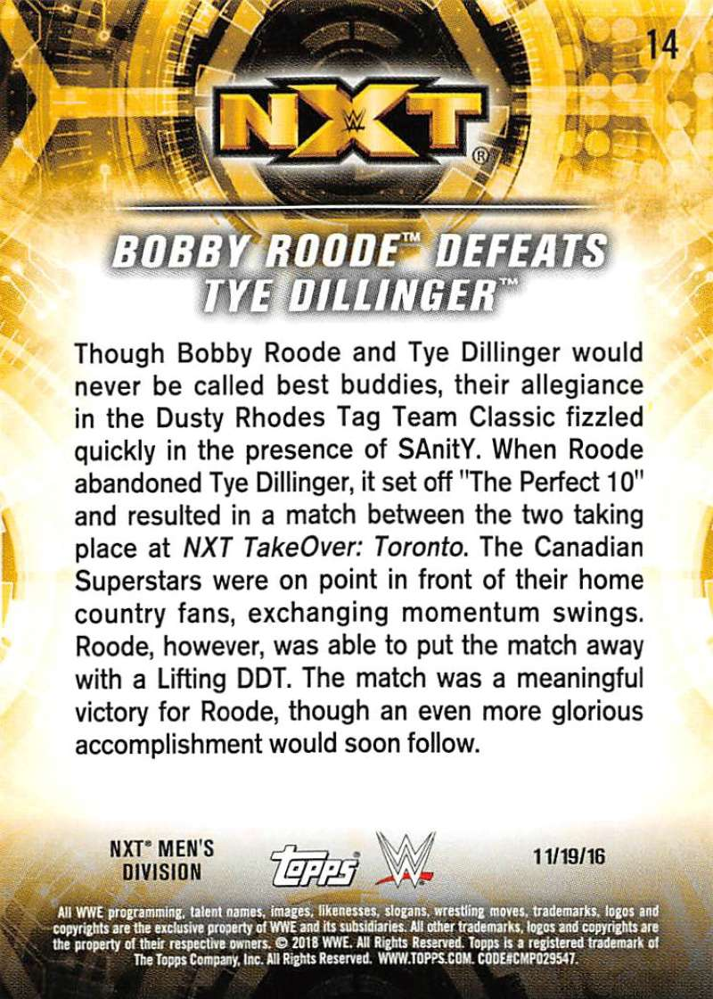 2018-Topps-WWE-NXT-Base-or-Matches-and-Moments-Cards-Pick-From-List thumbnail 63