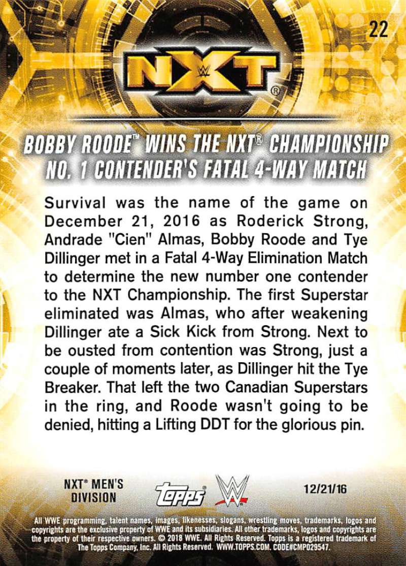 2018-Topps-WWE-NXT-Base-or-Matches-and-Moments-Cards-Pick-From-List thumbnail 73