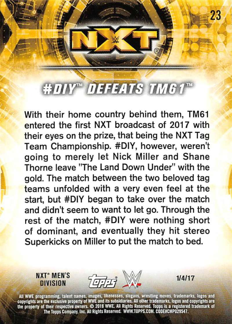 2018-Topps-WWE-NXT-Base-or-Matches-and-Moments-Cards-Pick-From-List thumbnail 75