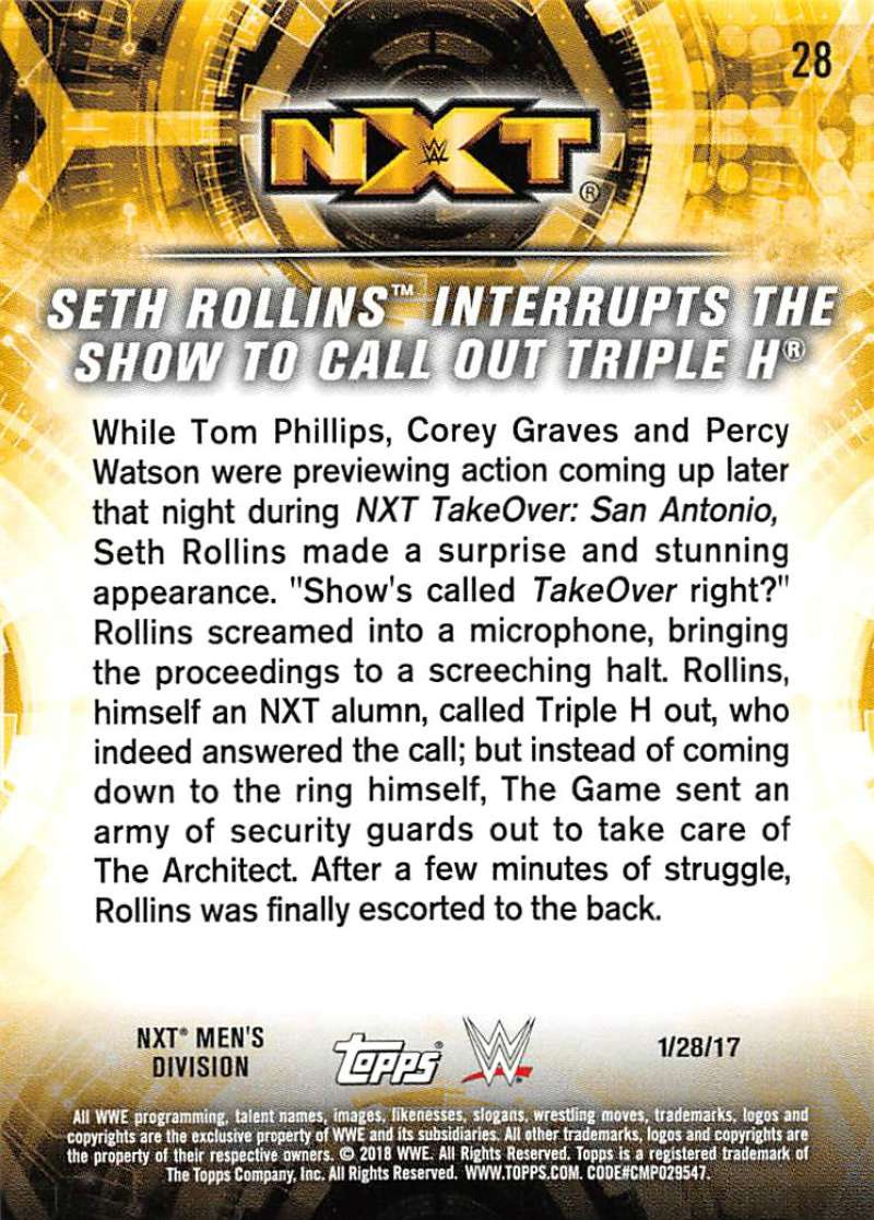 2018-Topps-WWE-NXT-Base-or-Matches-and-Moments-Cards-Pick-From-List thumbnail 85