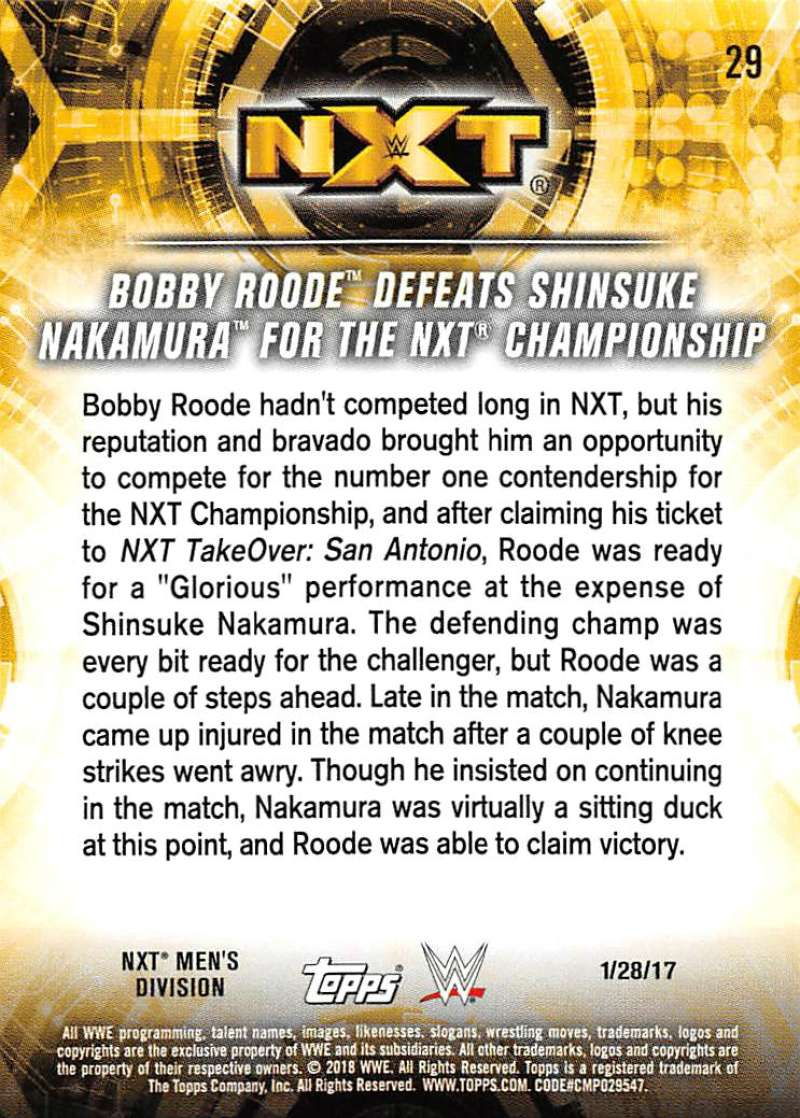 2018-Topps-WWE-NXT-Base-or-Matches-and-Moments-Cards-Pick-From-List thumbnail 87