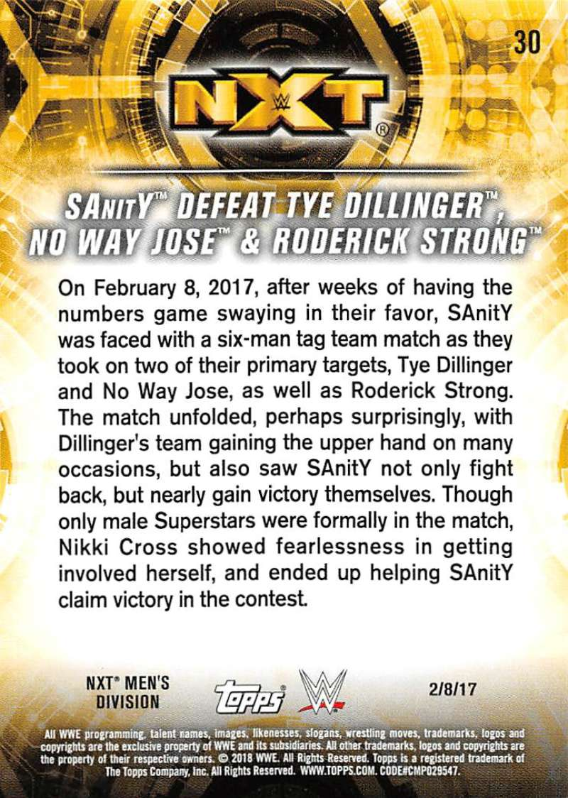 2018-Topps-WWE-NXT-Base-or-Matches-and-Moments-Cards-Pick-From-List thumbnail 89