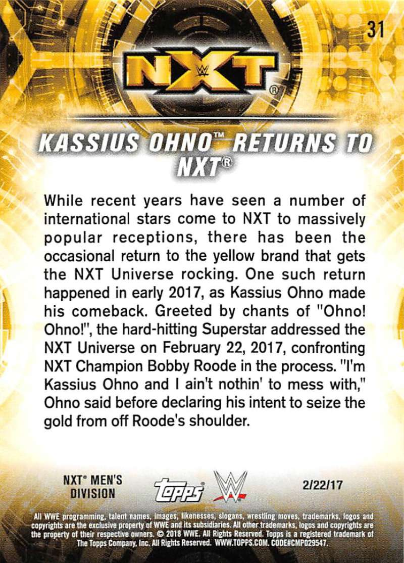 2018-Topps-WWE-NXT-Base-or-Matches-and-Moments-Cards-Pick-From-List thumbnail 91