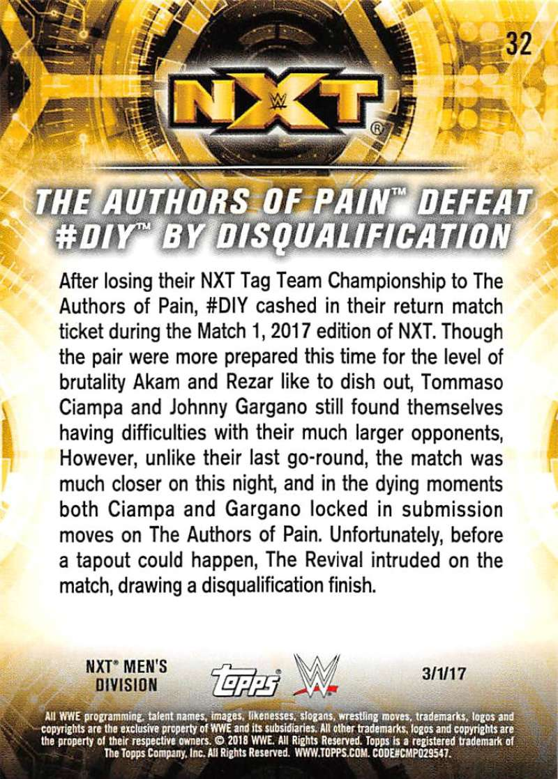 2018-Topps-WWE-NXT-Base-or-Matches-and-Moments-Cards-Pick-From-List thumbnail 93