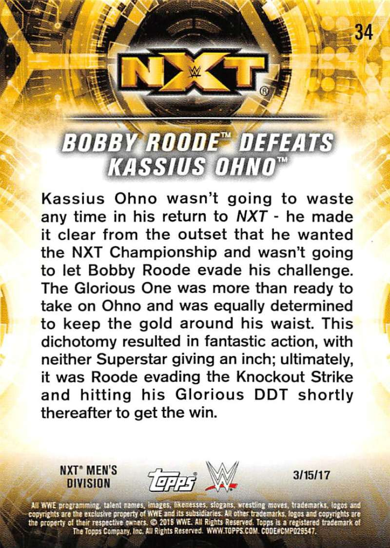 2018-Topps-WWE-NXT-Base-or-Matches-and-Moments-Cards-Pick-From-List thumbnail 97