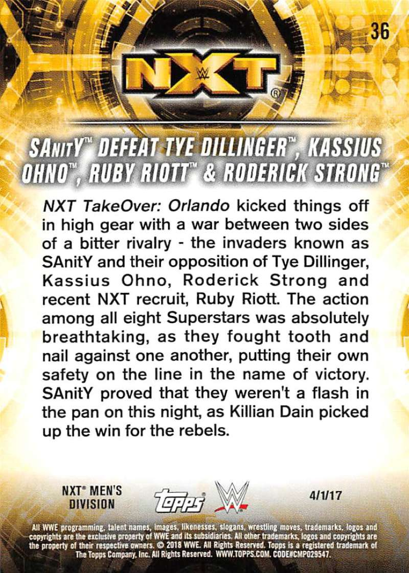 2018-Topps-WWE-NXT-Base-or-Matches-and-Moments-Cards-Pick-From-List thumbnail 101