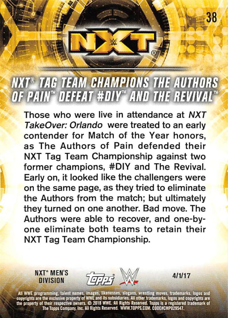 2018-Topps-WWE-NXT-Base-or-Matches-and-Moments-Cards-Pick-From-List thumbnail 103