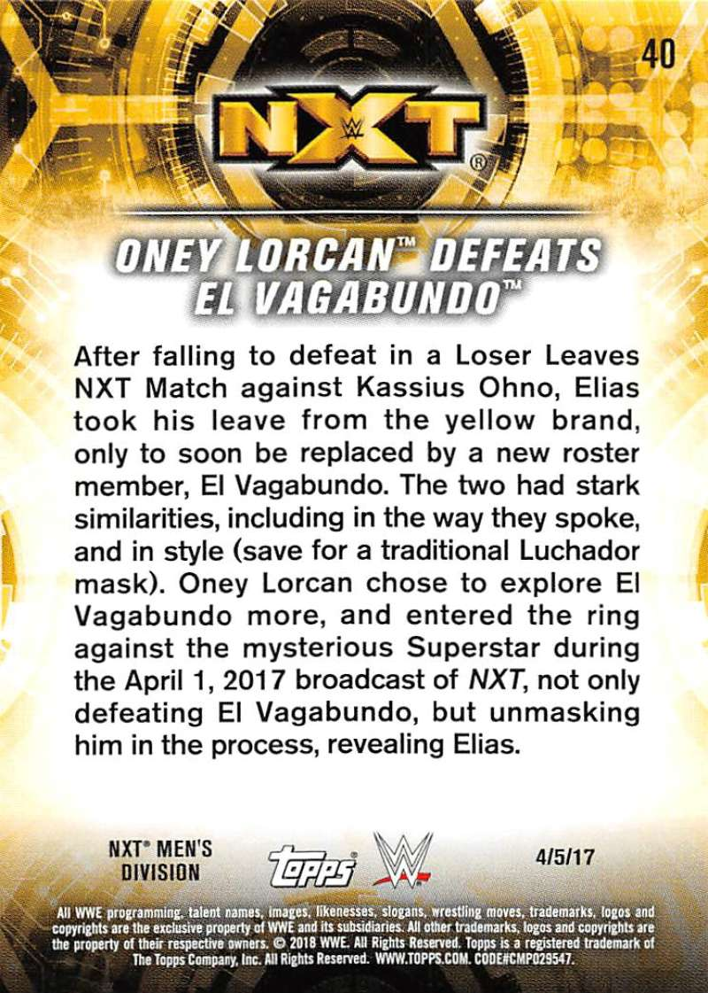 2018-Topps-WWE-NXT-Base-or-Matches-and-Moments-Cards-Pick-From-List thumbnail 107